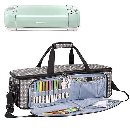 4d9824cb26fe Yarwo Carrying Bag for Cricut Explore Air (Air 2), Cricut Maker Silhouette  Cameo 3, Tote Bag Heavy Duty Nylon Travel Bag Compatible with Cricut ...
