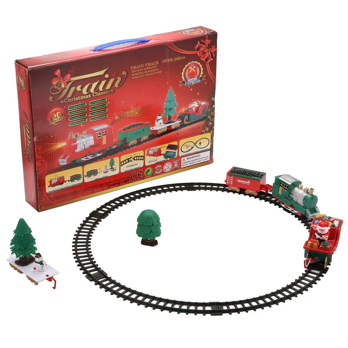 KING DO WAY Weihnachts Musical Zug Eisenbahnstrecke Licht Sound ...