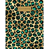 NOTEBOOK: Leopard Print Composition Notebook, Cheetah Journal, College Ruled 100 Pages Lined Paper - Large 8.5 x 11, New Desi