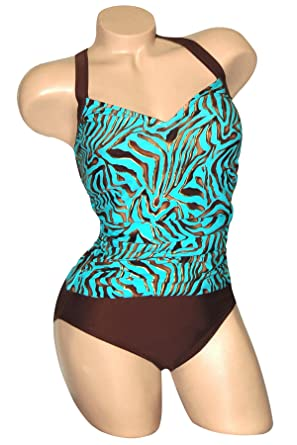 58cc26335ed Carol Wior 9-1083 Dangerous When Wet Shirred Front V Neck Swimsuit ...
