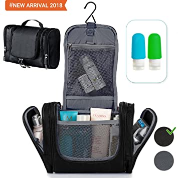 1b6b1d7ca1c Travel Hanging Toiletry Bag - Toiletry Kit for Women Men - Shower Bag -  Large Mens