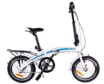 AWN Bicicleta plegable de 16 pulgadas de aluminio 15kg