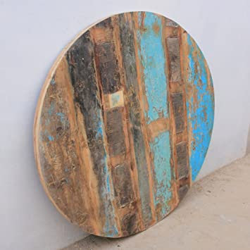 Antique Rustic Reclaimed Wood Round Table Top 48 quot x 48 quot. Amazon com  Antique Rustic Reclaimed Wood Round Table Top 48 x 48