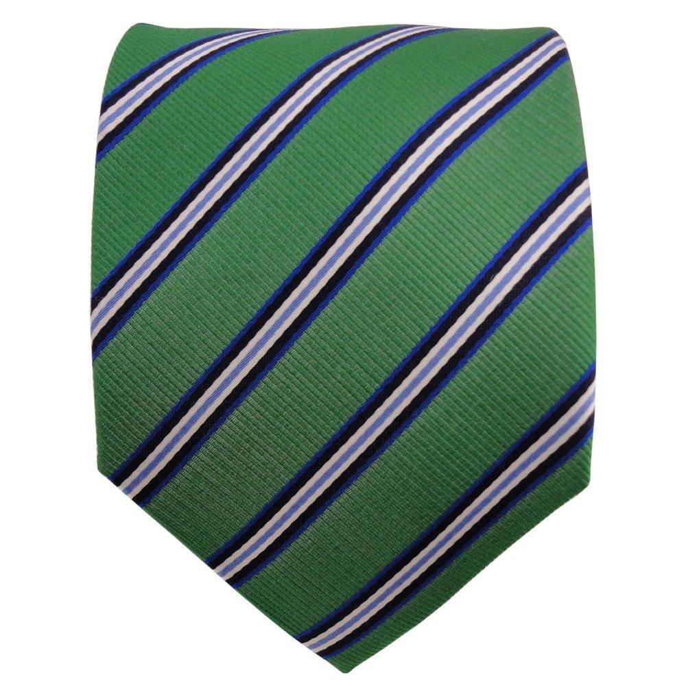 Diseñador corbata de seda - verde verde esmeralda azul blanco ...