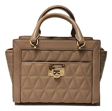 c7fbf4e5c9 MICHAEL Michael Kors Vivianne SM TZ Messenger Quilted Handbag (Oyster  Patent)