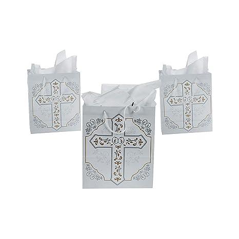 Amazon.com: Religiosas Cruz Bolsas de regalo (1 Dozen ...