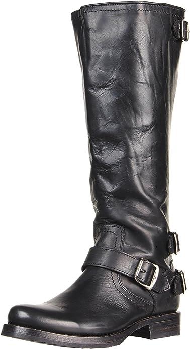 Amazon.com | FRYE Women\'s Veronica Back-Zip Boot | Knee-High