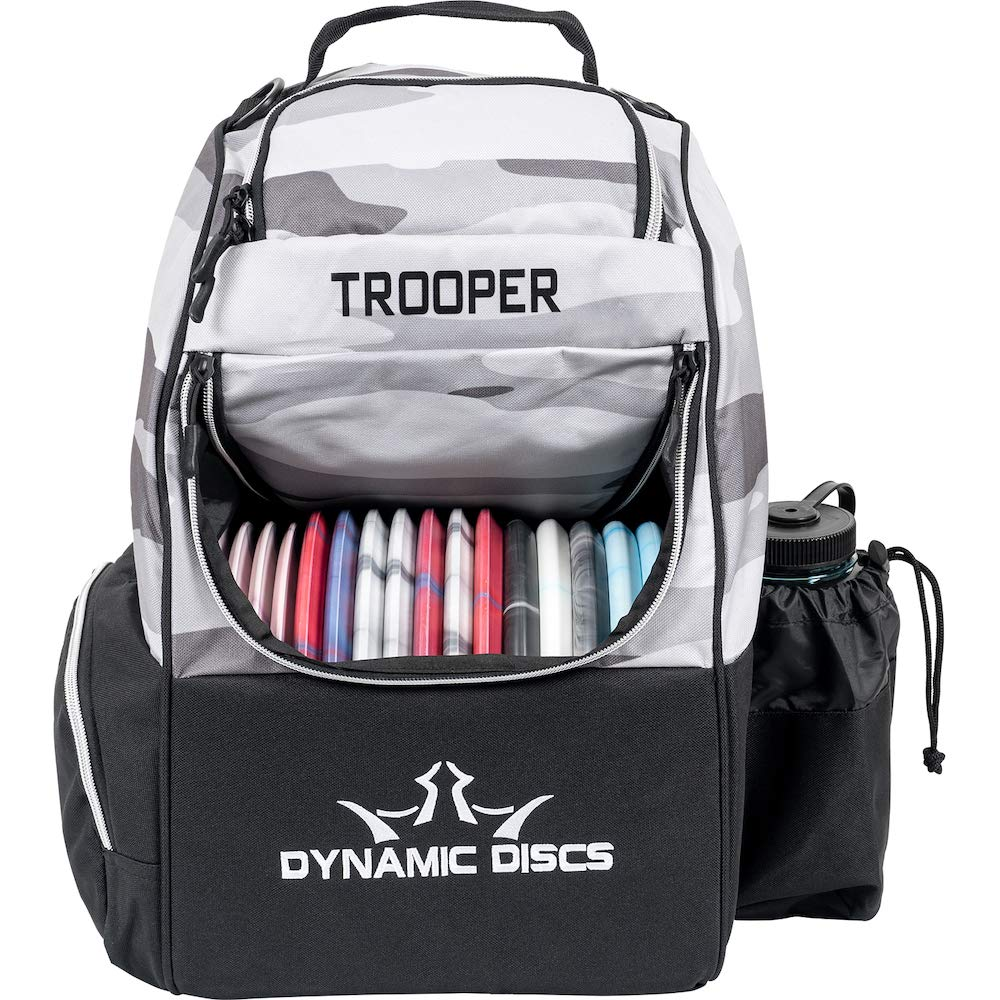 Dynamic Discs Trooper Disc Golf Backpack | Arctic Camo | Frisbee Disc Golf Bag with 18+ Disc Capacity | Introductory Disc Golf Backpack | Lightweight and Durable by D·D DYNAMIC DISCS