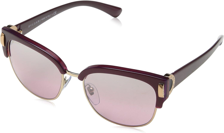 Bulgari 0Bv8189 54267E 55 Gafas de sol, Dorado (Viola Pink), Unisex-Adulto