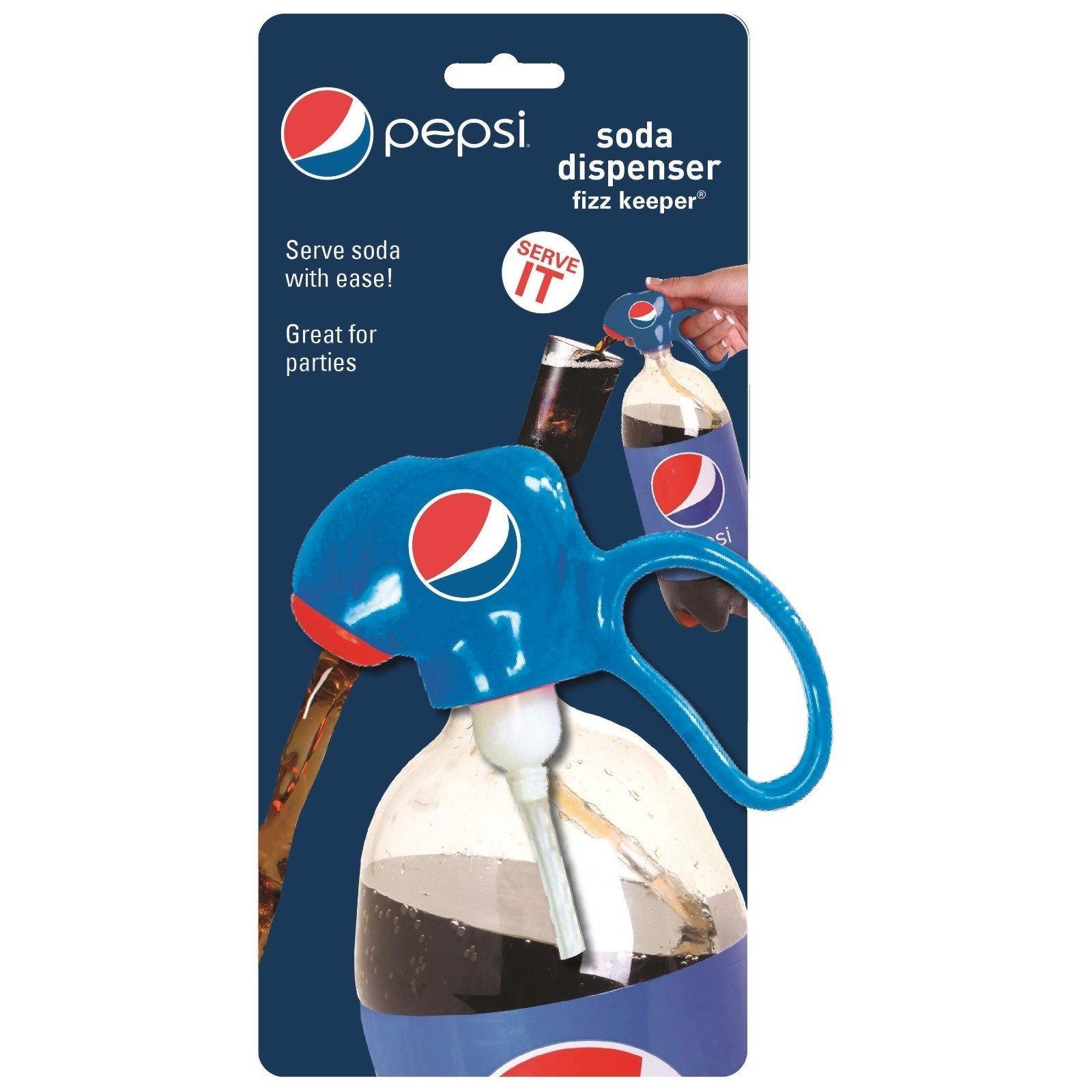 Jokari Pepsi Modern Logo Fizz Keeper Soda Dispenser