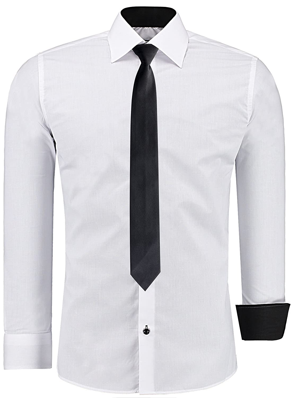 para Hombre JS FASHION Camisa Casual Cl/ásico