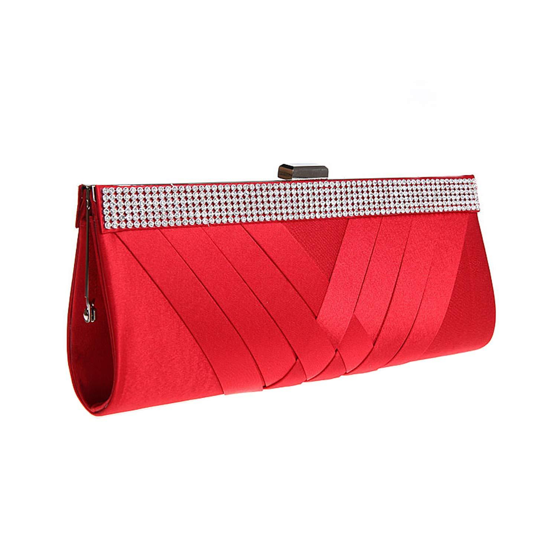 Red Bridesmaid Clutch Purse Bag Set Red Wedding Bridal Clutch Handbag