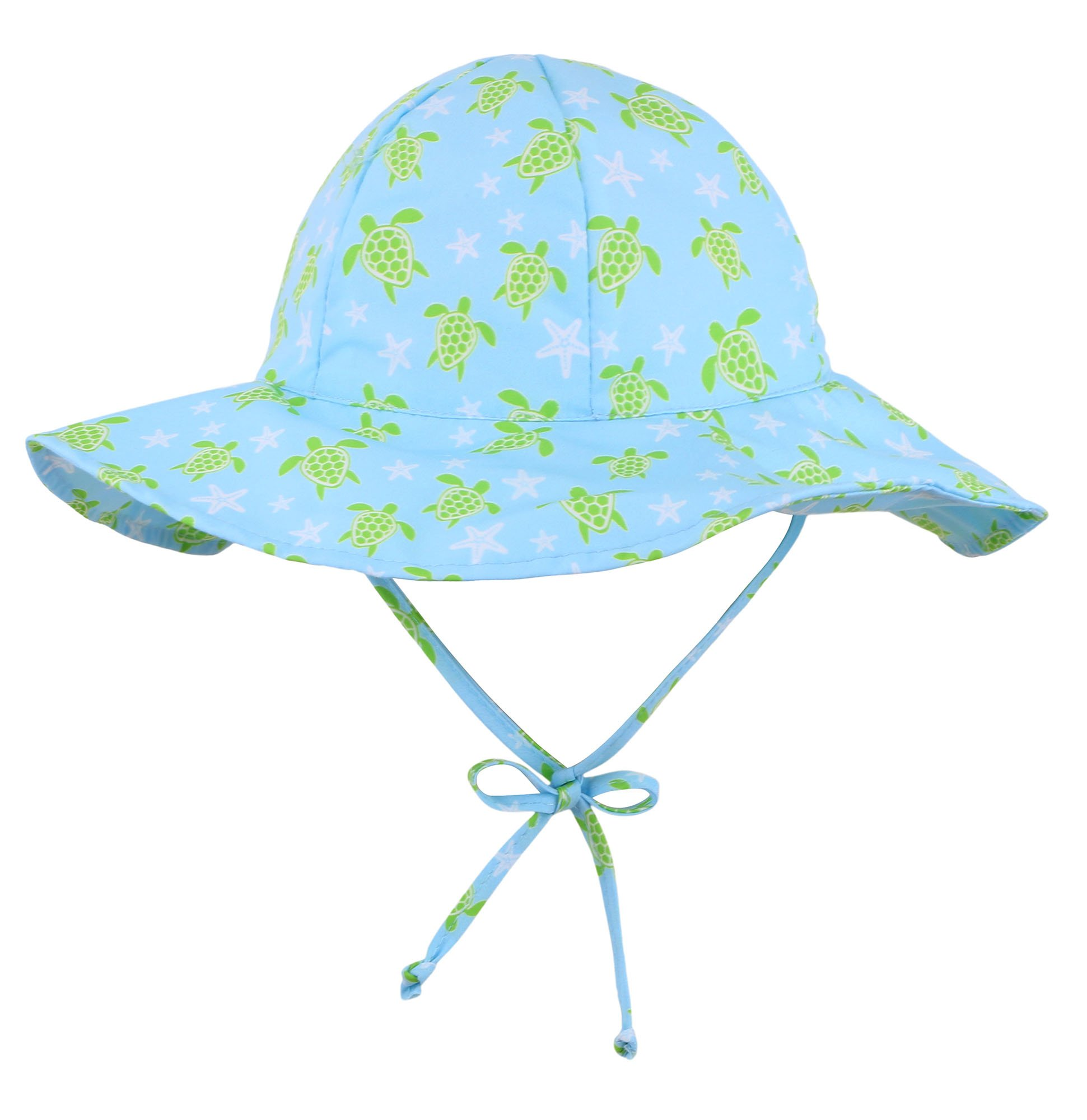 Livingston Children's Sun Protective Chin Strap Floppy Hat, Trutle, 0-12 Months