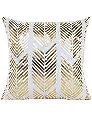 Gold Foil Printing Pillow Case, Tatis Waist Throw Cushion Cover (B)
