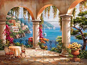 Ceramic Tile Mural - Terrace Arch II - by Sung Kim