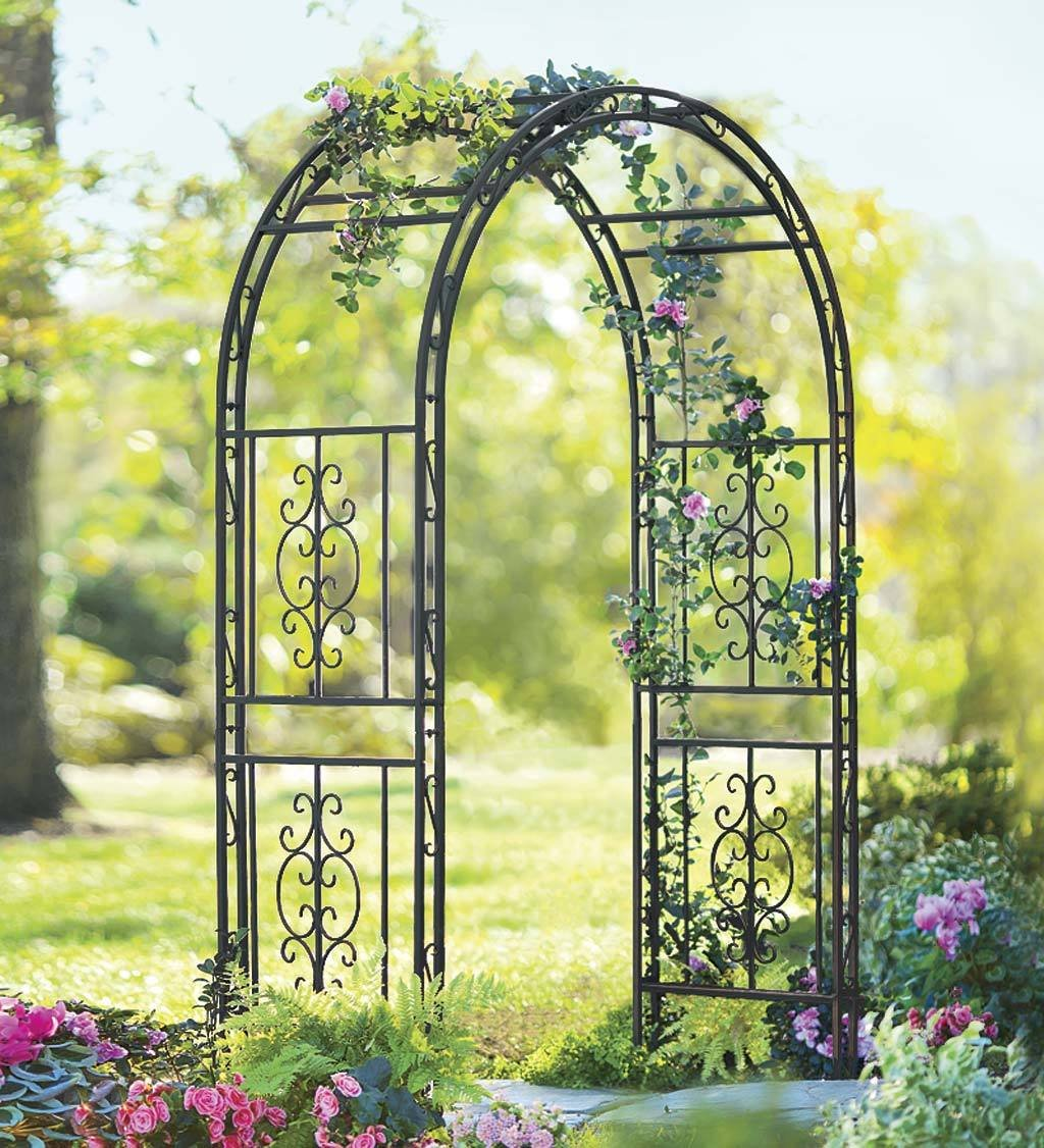 Amazon.com : Montebello Decorative Garden Arbor Trellis, Scroll ...