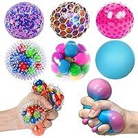 HIETIRA Squishy Stress Balls for Kids and Adults - 6 Balls Water Bead Stress Balls Needohball DNA Balls Sensory Ball…