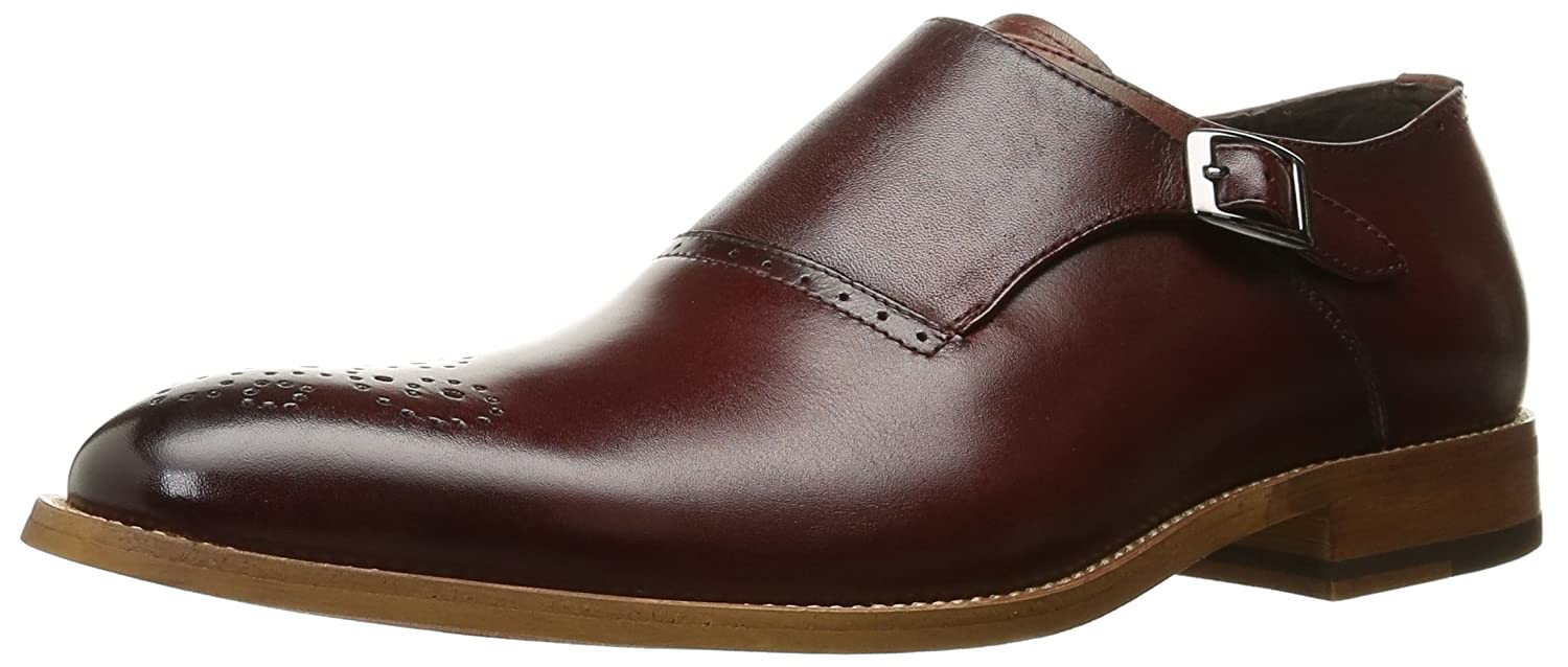 Stacy Adams Men's Dinsmore Plain Toe Monk Strap Slip-On Loafer