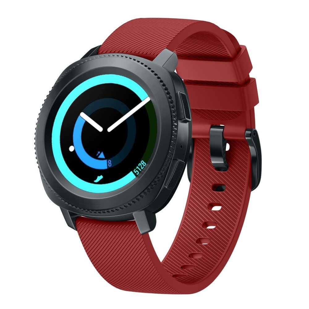 Sinma New Fashion Sports Silicone Replacement Bracelet Watch Strap Band for Samsung Gear S3 Frontier (Red)