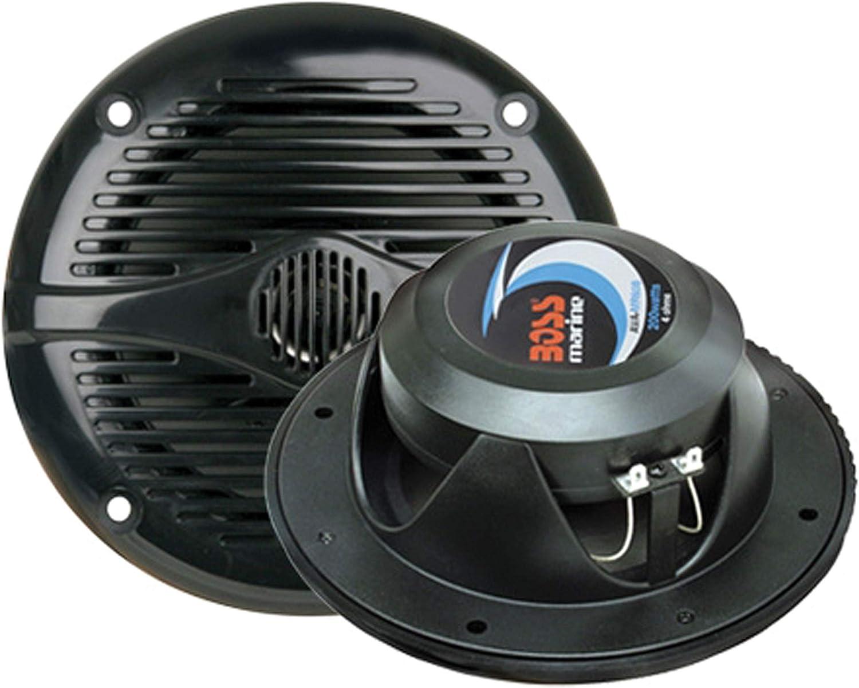 BOSS MR50B 5.25 Inch, Full Range, 2 Way Weatherproof Marine Speakers