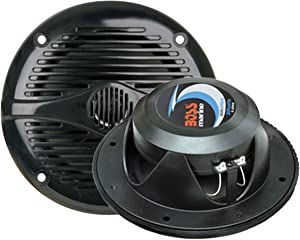 BOSS Audio Systems MR50B 150 Watt Per Pair, 5.25 Inch, Full Range, 2 Way Weatherproof Marine Speakers Sold in Pairs