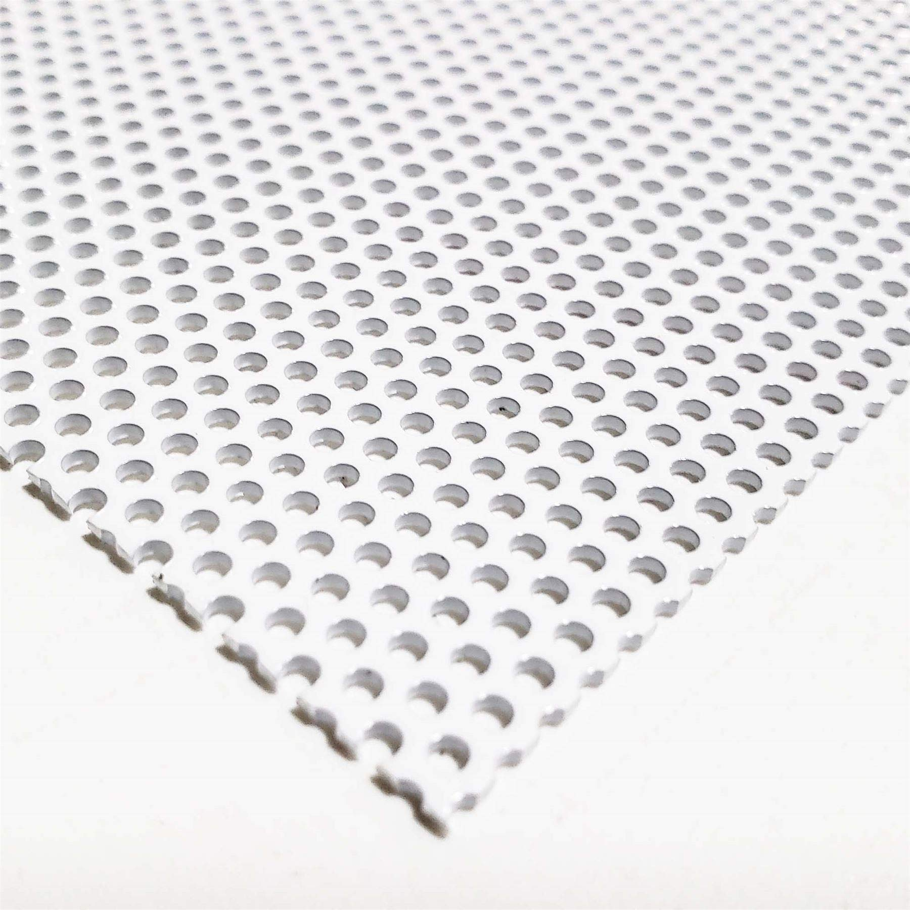 Online Metal Supply White Painted Aluminum Perforated Sheet, 0.040'' x 12'' x 12'' (0.078'' Hole, 0.125'' Center)