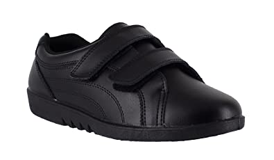Comfort Womens Leather Freestep Style Velcro Comfort Casual Shoes UK 4 Black