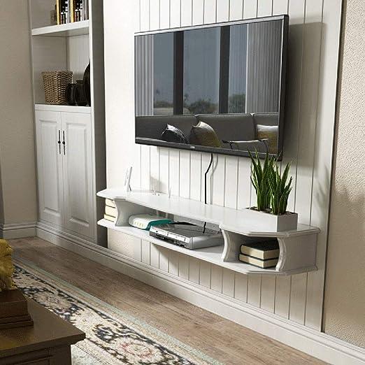 Baldas flotantes Router Set-Top Box Shelf TV Montado En La Pared ...