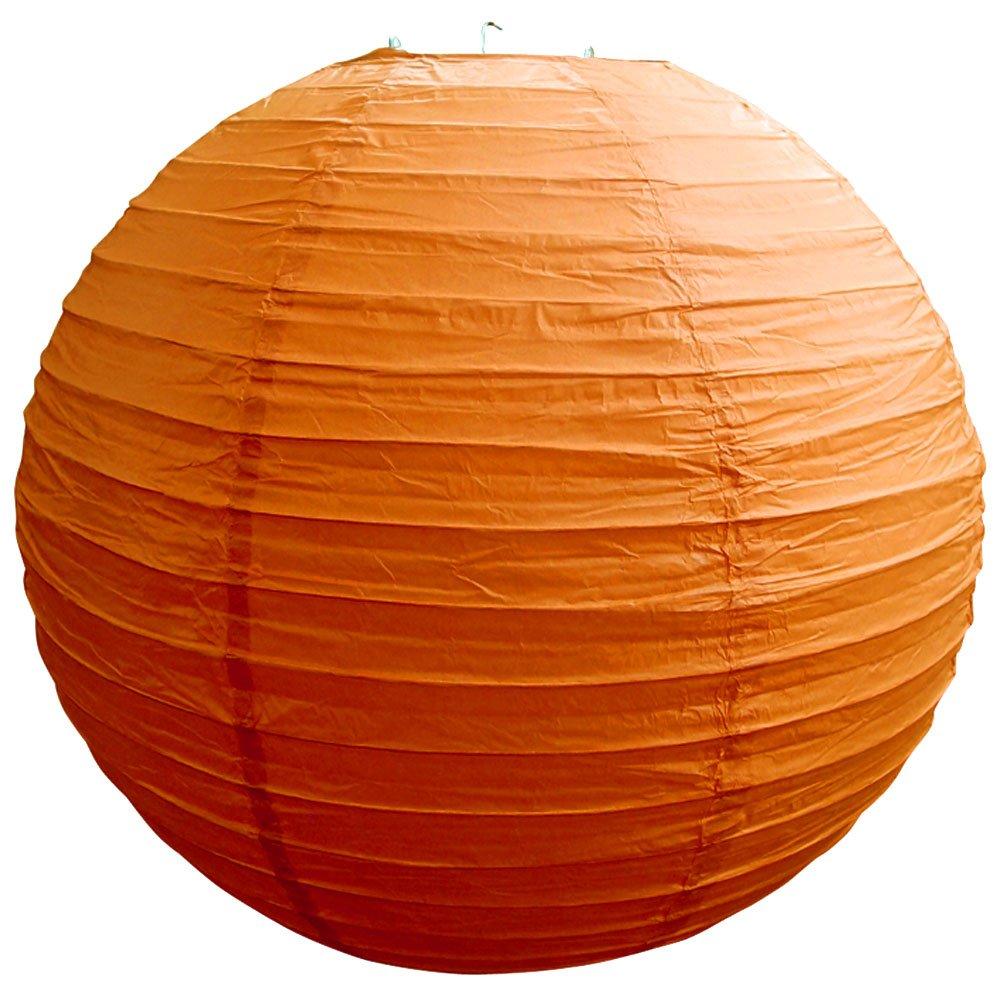 球体ペーパーランタン うね織り模様 ぶらさげるのに(電球は別売り) 8 Inch 8EVP-BO 1 B00T5ECXKW 8 Inch|Persimmon Orange Persimmon Orange 8 Inch