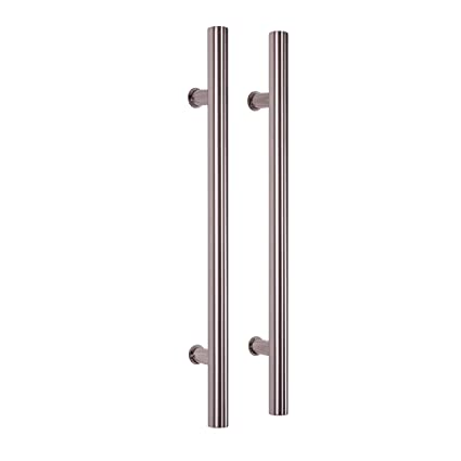Attirant Pull Push 24u0026quot; Handles For Entrance Entry Front Door, Interior And  Exterior, Satin