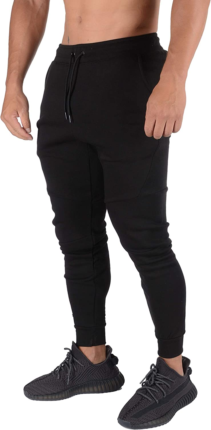YoungLA Slim Joggers for Men | Skinny Fit Sweatpants | Workout Gym Track Pants with Pockets 207