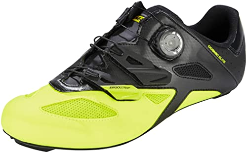 Mavic Cosmic Elite Unisex- Zapatillas - Amarillo/Negro Talla del Calzado UK 7,5 / EU 41 1/3 2019: Amazon.es: Zapatos y complementos