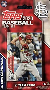 St Louis Cardinals 2020 Topps Factory Sealed Special Edition 17 Card Team Set with Adam Wainwright and Yadier Molina Plus