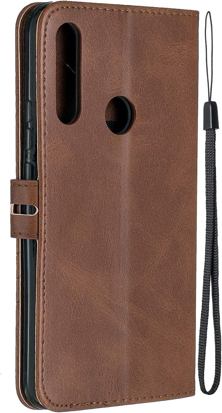 Funda de Cuero con Tapa Ranuras Tarjetas Soporte Plegable Antigolpes Carcasa Case para Huawei P Smart Z LOHEX120312 Amarillo Lomogo Funda Cartera Huawei P Smart Z//Y9 Prime 2019
