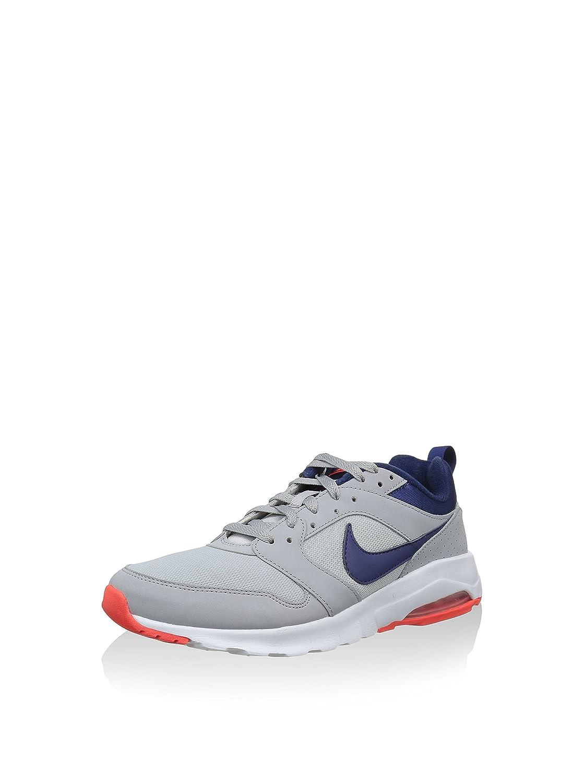 Nike Herren Air Max Motion Laufschuhe, Blau  40 EU|Grau / Blau / Orange (Wolf Grey / Lyl Blue-brght Crmsn)