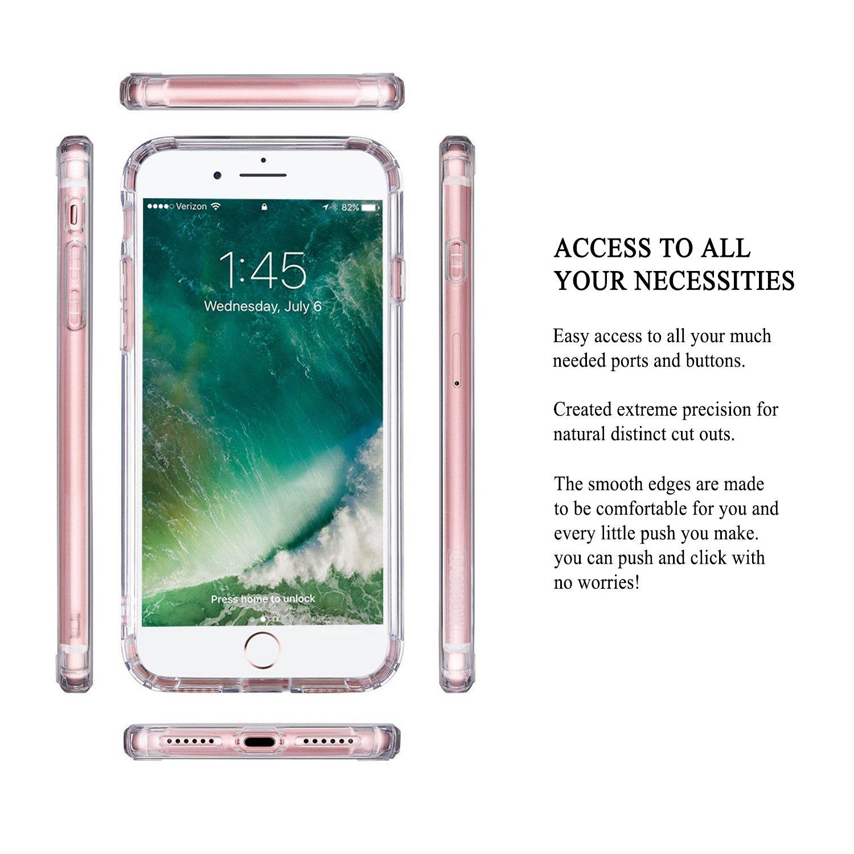 Amazoncom Iphone 7 Case Clear Iphone 7 Case Mosnovo White Henna