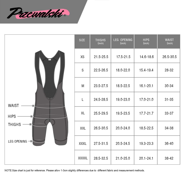 Przewalski Men's Cycling Bib Shorts, 4D Padded Compression Bike Tights Breathable Bicycle Pants UPF 50+, Classic Series, Black/XL by Przewalski (Image #7)