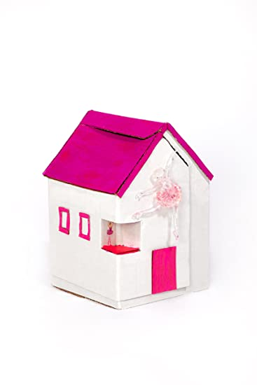 Amazon diy doll house do it yourself cardboard assembly design diy doll house do it yourself cardboard assembly design paint and play dollhouse kit lets solutioingenieria Image collections