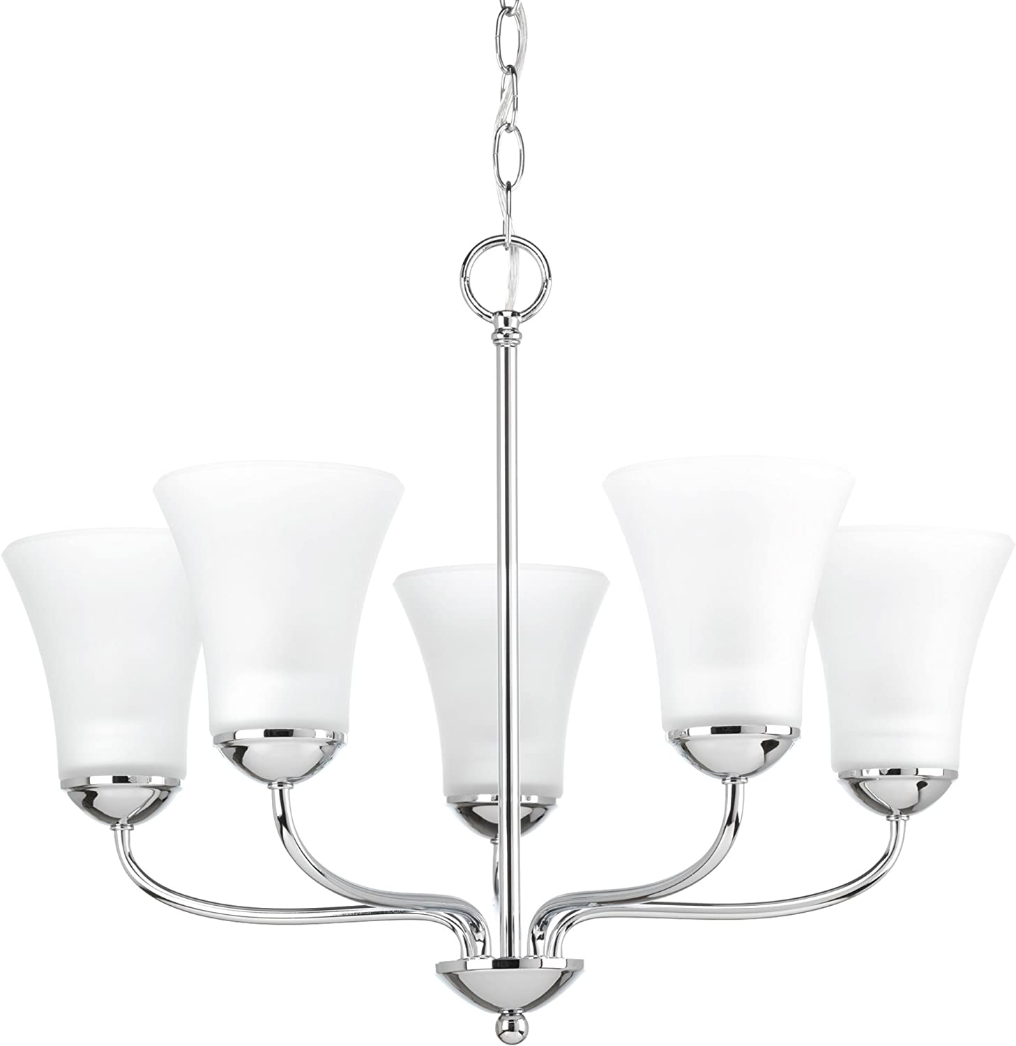 Progress Lighting P4770-15 Classic Five-Light Chandelier, Polished Chrome