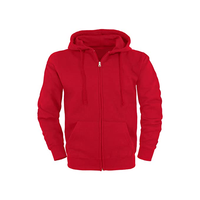 SHC Textilien Basic Sudadera con Cremallera y Capucha/Tallas XL/Colores Rojo: Amazon.es: Ropa y accesorios