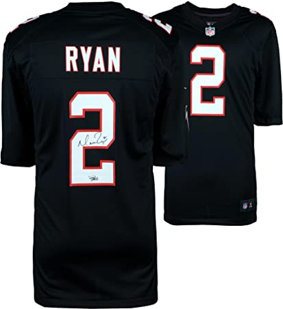 on sale e9b35 83891 Matt Ryan Atlanta Falcons Autographed Black Nike Game Jersey ...