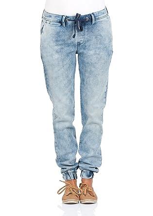 8a42c211555e Pepe Jeans London Damen Gymdigo Jeans Cosie - Regular Fit - Blau - Canvas  Knit