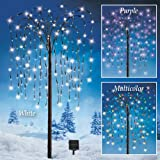 Collections Etc. LED Solar Willow Tree, Outdoor