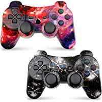 CHENGDAO Wireless Controller 2 Pack for P-3 with High Performance Double Shock (Skull + Galaxy)