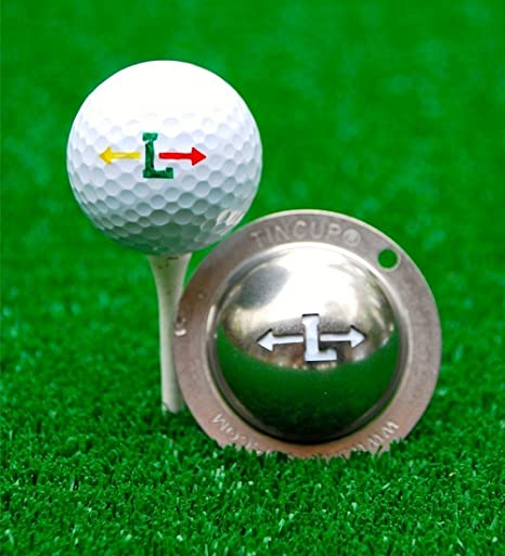 Tin Cup Unisex S Alpha Players Cup L Golf Ball Marker Steel