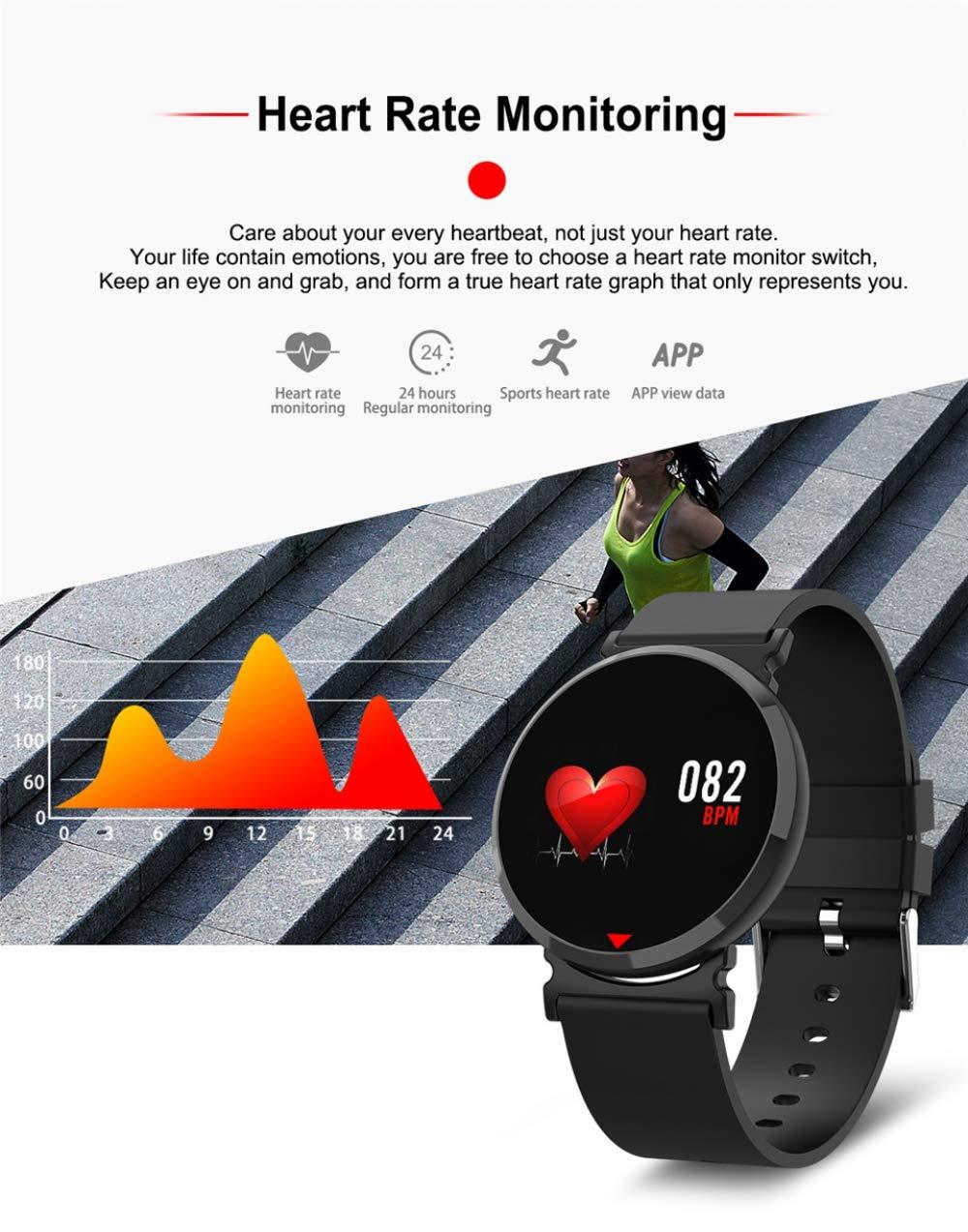 ZLOPV Presión Arterial Ritmo cardíaco Reloj Inteligente ...