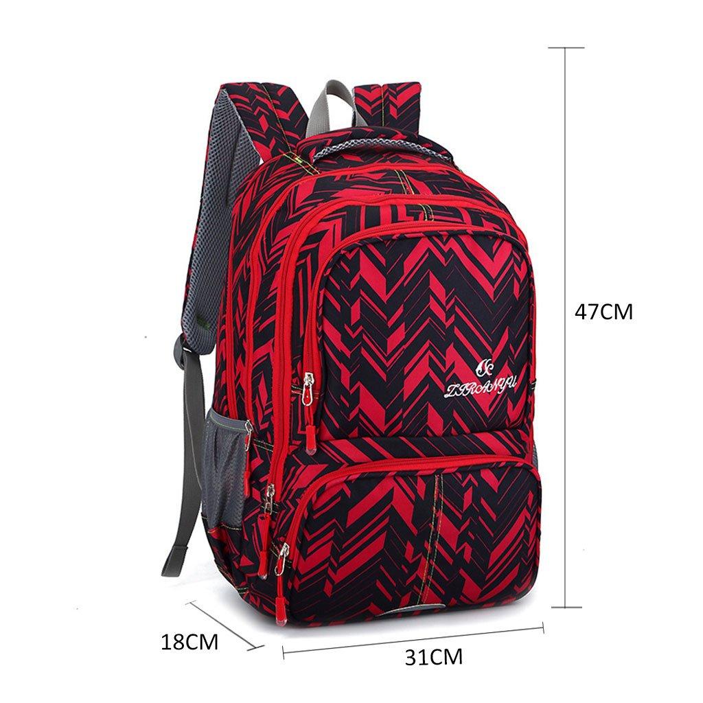 Sacs /à dos scolaires Geometric Prints Bookbags /étanches pour les gar/çons au coll/ège peut contenir un ordinateur portable pour les adolescents