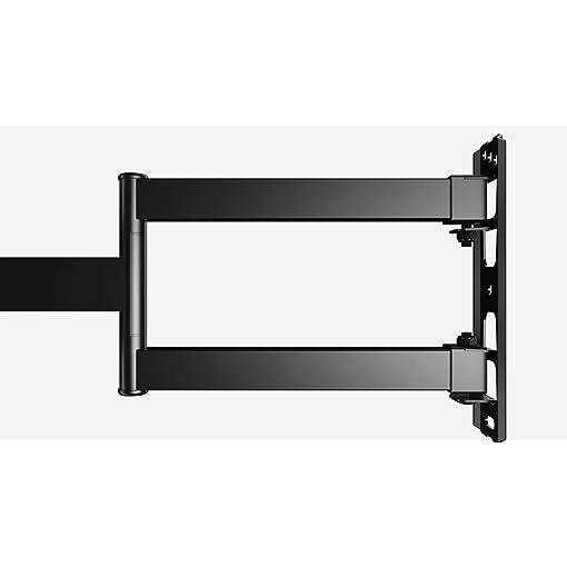 """Perlegear PGMFK1-E Supporto TV con Braccio Girevole ed Estendibile- Supporto per Montaggio su Parete per TV da 23-55"""", Max VESA 400×400, Supporto Ultra Resistente 45 kg, Cavo HDMI con Livella a Bolla"""