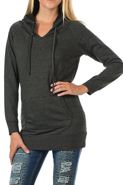 8a0797ecd591d YourStyle Tunic Top Hoodie Sweatshirt-Long Sleeve at Amazon Women s ...