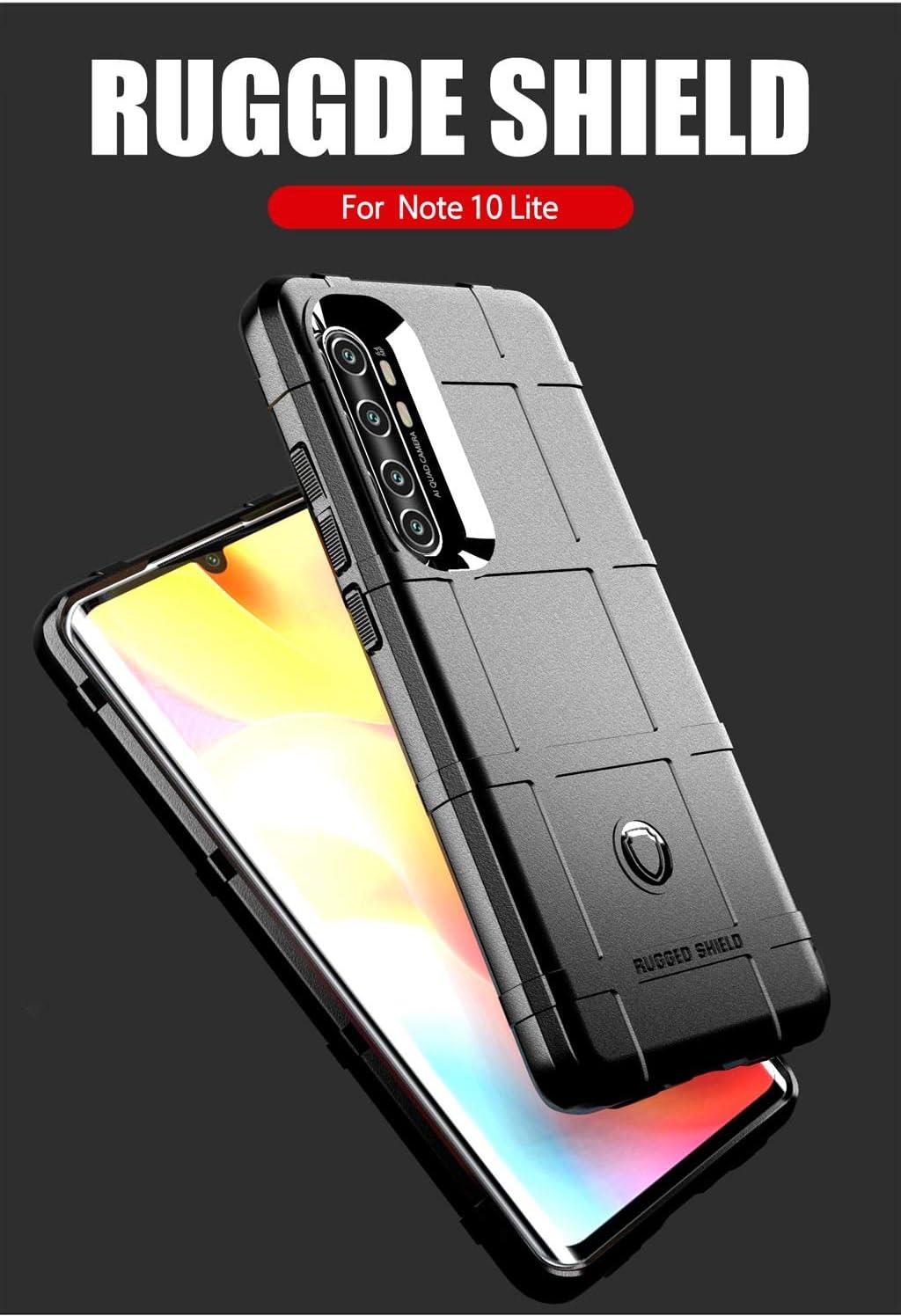 JMstore Funda Compatible con Xiaomi Mi Note 10 Lite Transparente TPU PC Carcasa.movil con Colgante//Cadena.Protectora ponible Cord/ón Cruzado